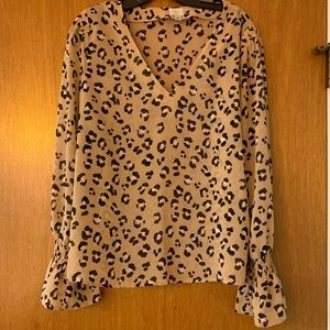 A New Day Leopard Blouse Size Large